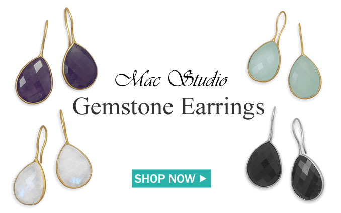 Gemstone Earrings + Free Shipping