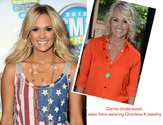 Carrie Underwood wearing Charlene K
