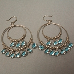 Deana Double Jeweled Hoop Earrings