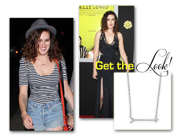Sterling Silver Arrow Necklace Get the Look