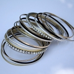 Rhinestone 20 Piece Bangle Set