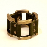 Gen X Leather Bracelet in Green