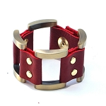 Gen X Leather Bracelet in Merlot
