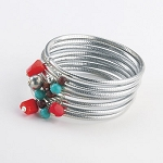 Mica 7 Piece Bead Bangle Set