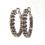 Dazzling Rhinestone Hoop Earrings