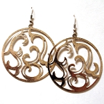 Mia Circle Cutout Design Earrings