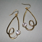 Miro Swirl Drop Earrings in Gold