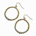 Marlyn Crystal Studded Circle Earrings in Gold
