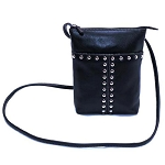 ILI Leather Stud Crossbody Handbag