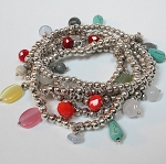 Lizou Rainbow Drop Bead Bracelet
