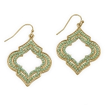 Shea Mint Lantern Drop Earrings