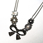 Alexandra Vintage Inspired Bow Necklace