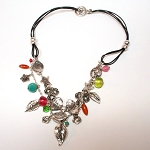 Mackenzie Multi-Charm Leather Necklace