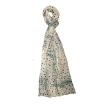 Vivante Abstract Dot Grey Cotton Scarf