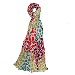 Vivante Eve Multi Color Floral Cotton Scarf