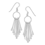 Bar Drop Sterling Silver Earrings