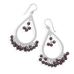 Gypsy Garnet Silver Drop Earrings