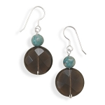Turquoise Stone & Quartz Earrings