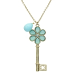 Gigi Flower Key Pendant Necklace