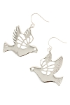 Farah Dove Earrings in Silver Metal