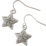 Petite Crystal Shining Star Earrings