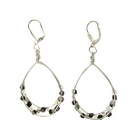 World Finds Audra Loop Earrings in Black