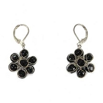World Finds Perennial Flower Earrings in Black