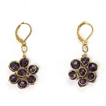 World Finds Perennial Flower Earrings in Plum