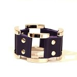 Gen X Leather Bracelet in Violet