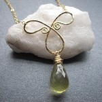 Calico Juno Lemon Quartz Drop Necklace