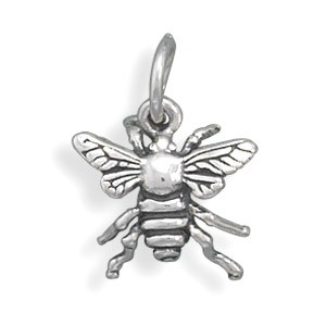 Petite Sterling Silver Bee Charm