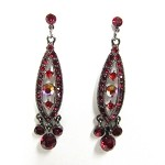 Neva Red Crystal Dangle Earrings