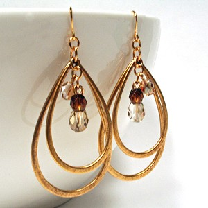 Carolina Double Teardrop Earring