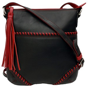 ILI Crossbody Contrast Stitch Handbag