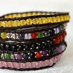 Lizou Multi Color Wrap Bracelet