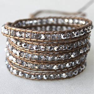 Lizou Silver Reflection Wrap Bracelet