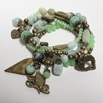 Lizou Agave Butterfly Antique Brass Bracelet