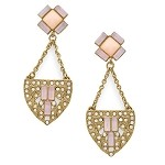 Art Deco Pink Swing Drop Earring