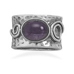 Contemporary Amethyst Sterling Ring