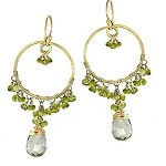 Calico Juno Peridot Hoop Earrings