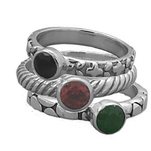 Mix and Match Gemstone Stack Rings