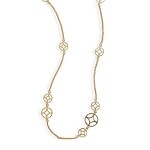Geo Circle Design Gold Necklace