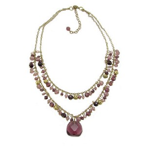 World Finds Sophie Two-Tier Necklace in Plum